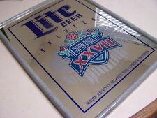 Miller Lite Beer Super Bowl Xxvii (27) Bar Mirror Cowboys Bills