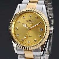Men Dress Wrist Watch New Luxury Men's Gold Automatic Mechanical Stainless Steel