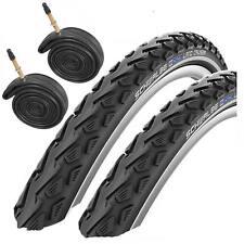 2x Schwalbe Land Cruiser 700 x 40C Hybrid Bike Tyres & Presta Tubes (1 Pair)