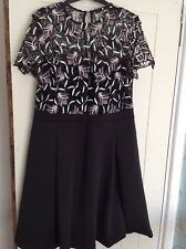 Womens black 18 dress with petterned top by Very