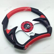 2017 PVC sports car steering wheel 13-inch universal red / blue / yellow /black