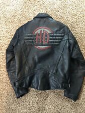 Hein Gericke Harley Davidson Black Leather Motorcycle Riding Jacket Vintage 38