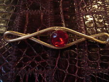 T.BELLE BROCHE STRASS ROUGE VINTAGE 1980 NEUVE/NEW RED RHINESTONES BROCH