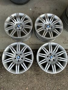 """19"""" BMW Spider Alloy Wheels Hyper Silver to fit BMW 5 Series E60 E61"""