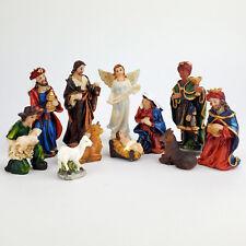"""Christmas Nativity Scene Set Baby Jesus Nacimiento Navidad Nino Dios 3"""" 11 PC"""