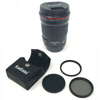 Canon EF 135mm f/2L USM + Lens Filter Kit 72mm - UK NEXT DAY DELIVERY