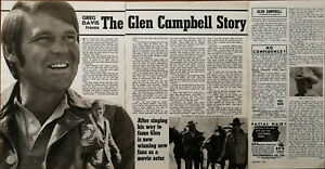 Glen Campbell The Glen Campbell Story Vintage Country Music Article 1970