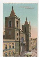 Valletta St Johns Church Malta Vintage Postcard 186a