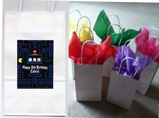 Retro 80's Pac Man Party favor goody bags personalized set of 10