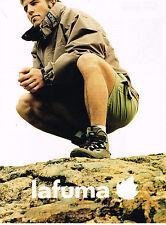 PUBLICITE ADVERTISING  2000   LAFUMA  vetements de sport