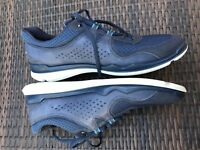 $215 ECCO Men's Lynx Navy Blue Leather & Synthetic Fashion Sneakers ,Size 13.