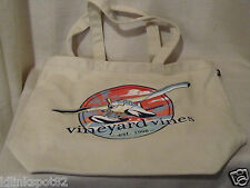 Vineyard Vines Seaplane Graphic Ivory Canvas Tote/Beach Bag