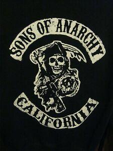 Sons Of Anarchy SAMCRO Black Full Zip Hoodie XL