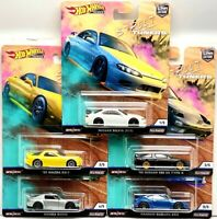 HOT WHEELS 2019 CAR CULTURE PREMIUM STREET TUNERS SET OF 5 CAR NISSAN HONDA
