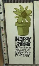 "HI-BROWS birthday card husband humor vtg 1970s hippy Bohemian ""Crush For Years"""