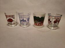 4 ARKANSAS State Souvenir Shot Glasses