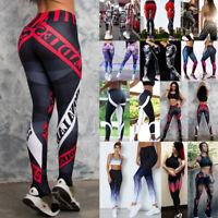 Women Push Up Yoga Pants High Waist 3D Print Leggings Sports Fitness Workout