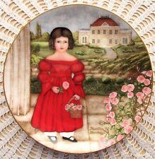 Abagail In The Rose Garden Folk Art Plate 1st In American Innocents Series Mint