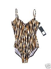 Swim Suit Swimwear Animal Print By Sea Queen Size 14 One-Piece MSRP $98.00