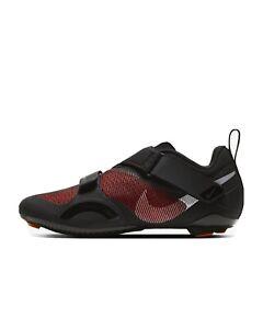 Nike Superrep Indoor Cycling shoes Black Hyper Crimson CJ0775-008 Women's 8.5