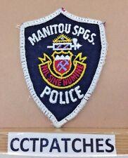 MANITOU SPRINGS, COLORADO POLICE SHOULDER PATCH CO 2