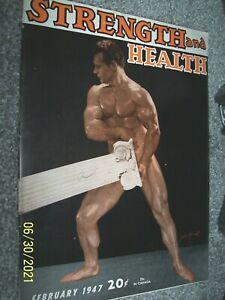 February, 1947 Vintage Strength & Health. muscle builder John Grimek