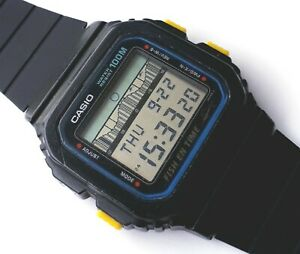 """VINTAGE CASIO WATCH FT-100W """"FISH EN TIME"""" WR 100 - COLLECTIBLE VERY RARITY 80's"""
