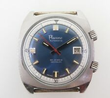 .Vintage Fluccano 25 Jewel 2772 Super Compressor Steel Mens Dive Wrist Watch
