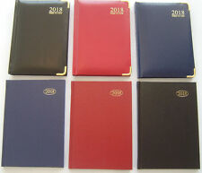 2018 DIARY HARDBACK/GOLD CORNER WEEK TO VIEW/DAY A PAGE/APT PKT/SLIM/A6/A5/A4