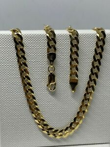 """Genuine Solid 9ct Gold 5mm Round Curb Chain Necklace 22""""  New"""