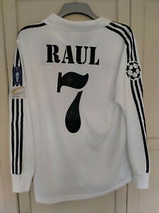 RAUL Real Madrid SHIRT 2001 2002 CHAMPIONS LEAGE FINAL SHIRT MEDIUM SPAIN