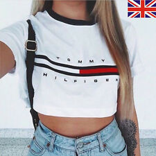 Fashion Womens Loose Pullover T-Shirt Short Sleeve Cotton Tops Shirt Blouse Crop