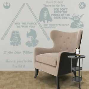 Dark vs Light Side 14 Piece Compatible with Star Wars Collection Wall Decal