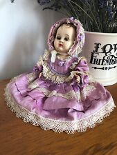 Vintage Rosebud Baby Doll in Pretty Shot Silk Dress 1950s