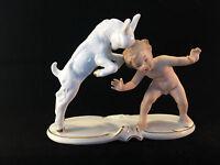 WALLENDORF *Eine Porzellan Skulptur*Junge und Zicklein*