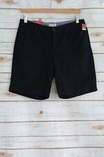 "NWT Merona - Black 100% cotton CHINO shorts, size 4, 9"" inseam"