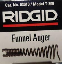 Ridgid 63010 T 206 3 Drum Cable Funnel Auger For K 400 Amp K 3800 Drum Machines