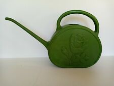 Vintage Union Products Watering Can Leominster MA Flower Green Plastic, 1950's
