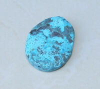 Ocean Jasper Quartz Druzy Faceted Bead. Slab Bead Pendant - Blue Green - 55mm