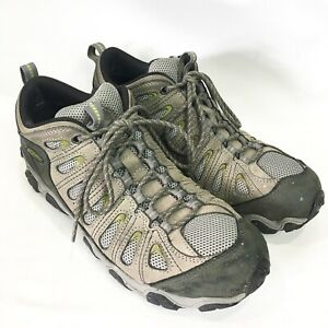 Oboz Mens 11 Shoes Sawtooth Low Hiking Lace Up Taupe Green