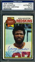 KEN HOUSTON REDSKINS SIGNED PSA/DNA CERTIFIED 1979 TOPPS AUTHENIC AUTOGRAPH