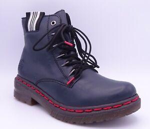 Rieker 76235-14 Women's Blue Fleece Lined Flat Ankle Boots Size UK 6.5 EUR 40