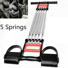 5 Springs Chest Arm Tubing Exercise Fitness Equipment Muscle Stretching Expander