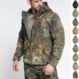 Mens Tactical Jacket Soft Shell Windbreaker Coat Military Casual Waterproof