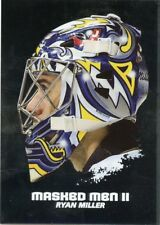 09/10 BETWEEN THE PIPES MASKED MEN II MASK SILVER #MM-46 RYAN MILLER *44381