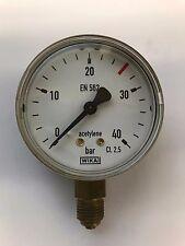 Ersatz-Manometer, Inhaltsmanometer Acetylen 0 - 40 / 18 bar