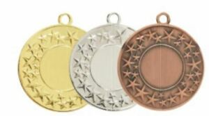 50mm generic medal with ribbon & insert options 247 VARIATIONS - ENGRAVED F.O.C.