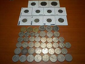 Mixed Lot of Circulated Franc Coins from Luxembourg