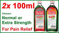 *100's SOLD*  2x GENUINE EFFICASCENT OIL Methyl Salicylate Camphor+Menthol 100ml
