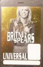*** BRITNEY SPEARS ***  LAMINATED CONCERT TOUR BACKSTAGE PASS - UNIVERSAL - MINT
